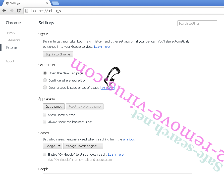 Gtoper.club pop-up ads Chrome settings