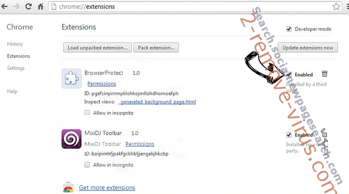 Private-search.xyz Chrome extensions disable
