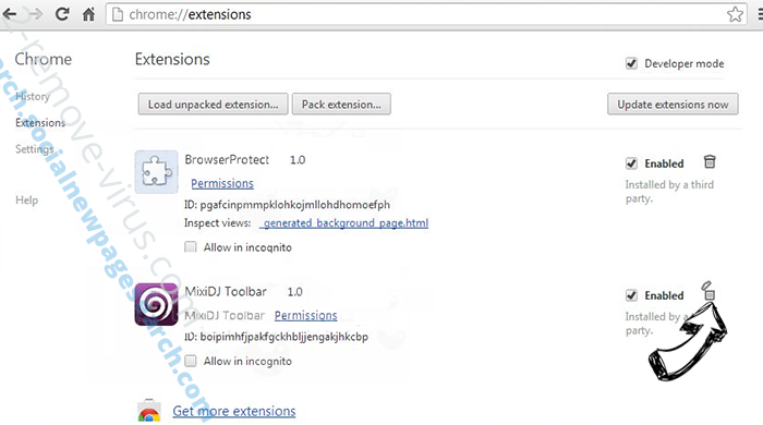 Private-search.xyz Chrome extensions remove