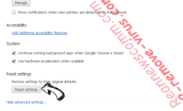 Greemed.top pop-up ads Chrome advanced menu