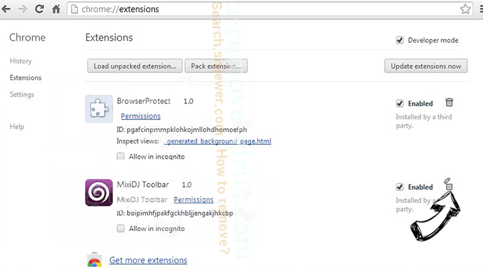 Rockstartpush.net Chrome extensions remove