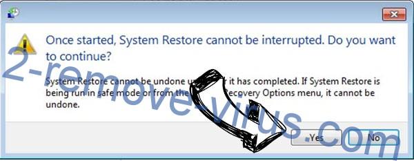 Pcqq ransomware removal - restore message