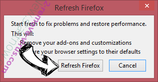 Streaming plus Firefox reset confirm