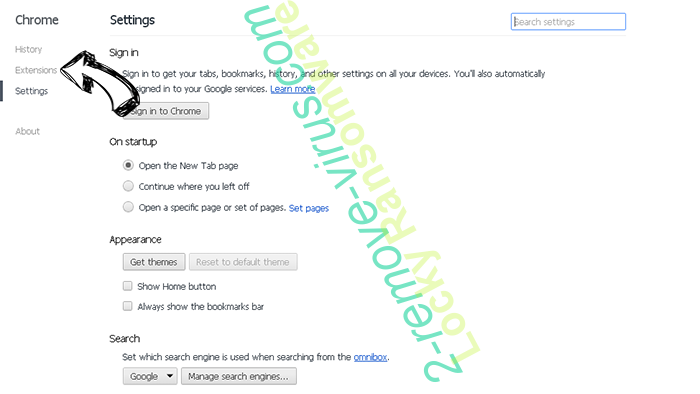 YourOptimizer Chrome settings