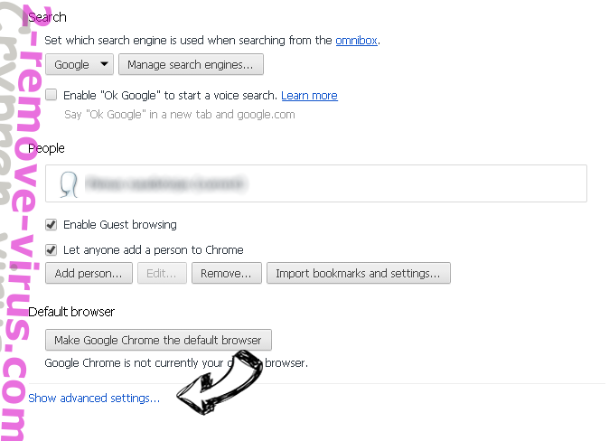 Search.searchffn.com Chrome settings more
