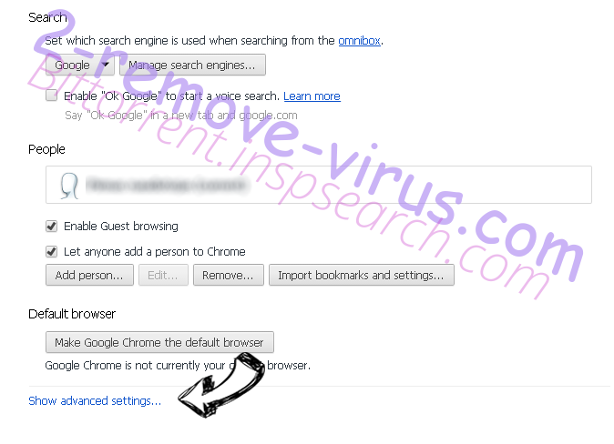 Search.greatsocialsearch.com Chrome settings more