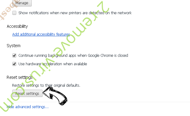 ExpertProjectSearch Adware Chrome advanced menu