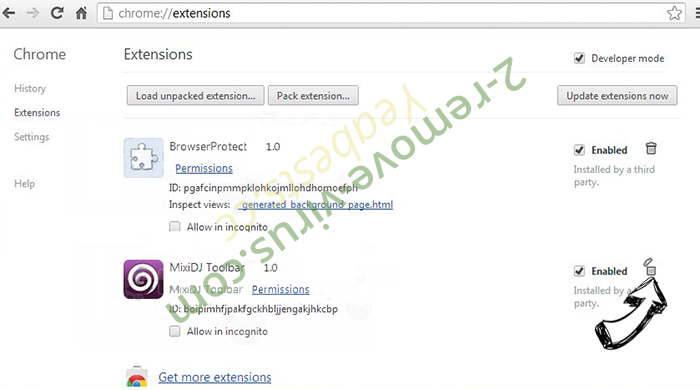 ExpertProjectSearch Adware Chrome extensions remove