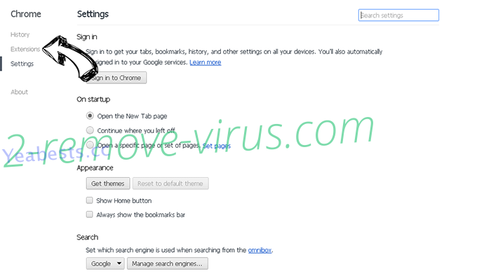 WARNING CRITICAL MESSAGE scam (Virus Removal Guide) Chrome settings