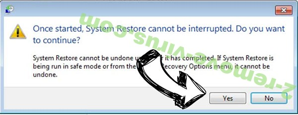 .Coos file Ransomware removal - restore message