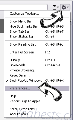 Highsecureus.com Safari menu