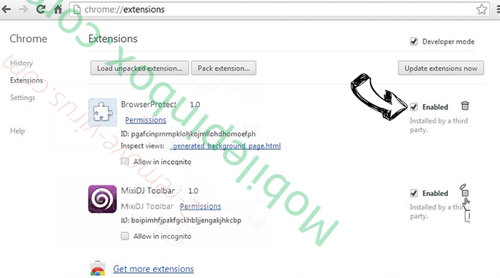 lp.ilivid.com virus Chrome extensions disable