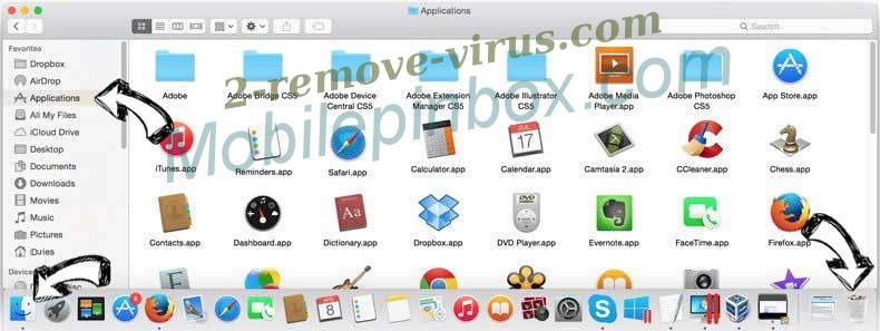 Mobilepinbox.com removal from MAC OS X