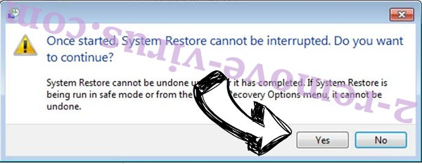 Findnotefile ransomware removal - restore message