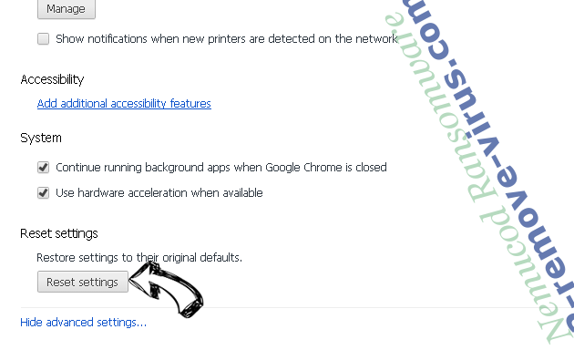 Search.searchwag.com Chrome advanced menu