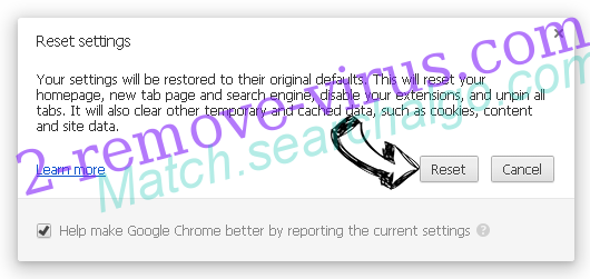 Match.searchalgo.com Chrome reset