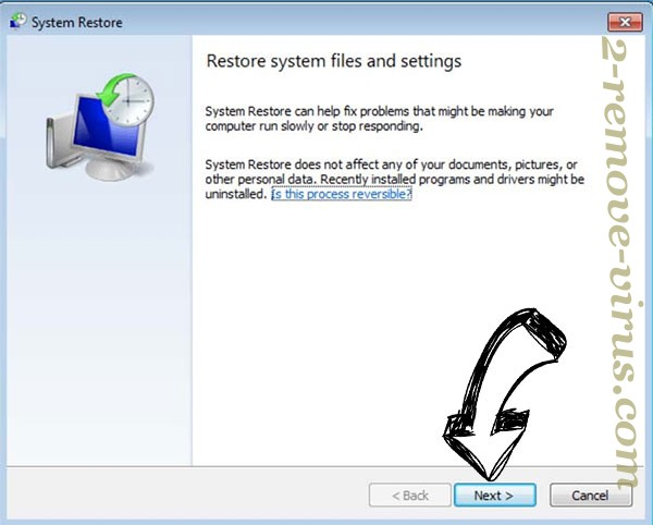 Get rid of Nusm Ransomware - restore init