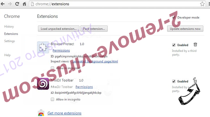 Websearch.search-mania.info Chrome extensions remove