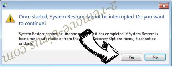 .Dragon file virus removal - restore message