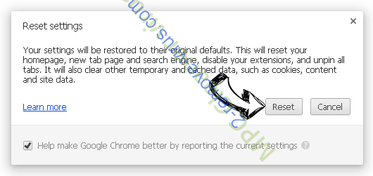 .XTBL virus Chrome reset
