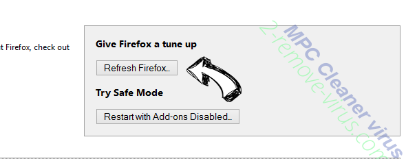 MPC Cleaner virus Firefox reset