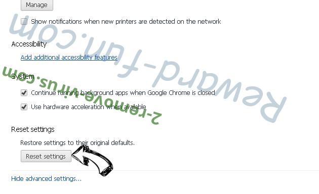 Search.hfreetestnow.app Chrome advanced menu