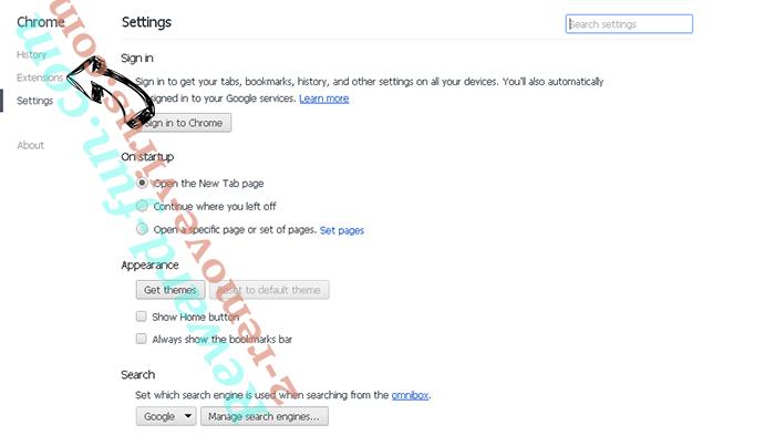 Search.hfreetestnow.app Chrome settings