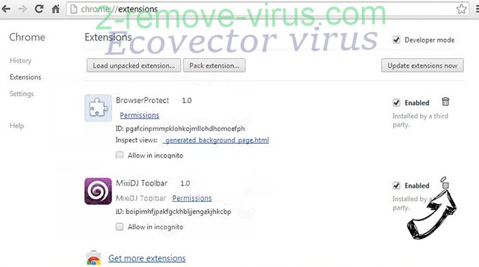 Getcode.biz Chrome extensions remove