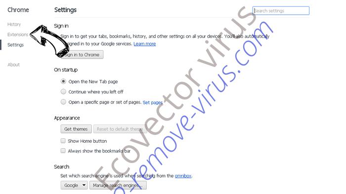 Getcode.biz Chrome settings