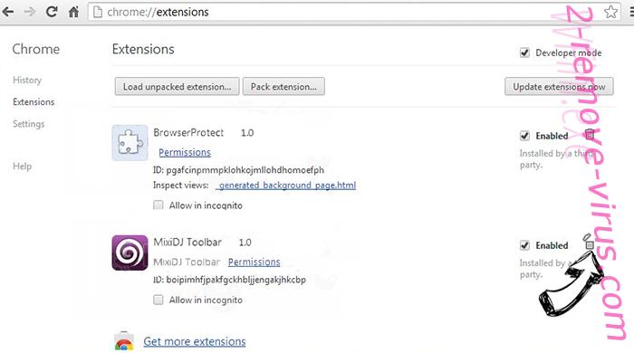 2solo.biz Chrome extensions remove