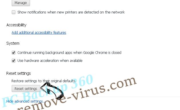 Search.gamesearcher.pro Chrome advanced menu