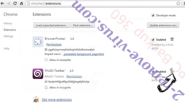 Search.gamesearcher.pro Chrome extensions remove