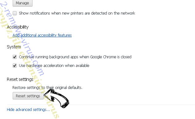 Wasterestinfor.info Chrome advanced menu