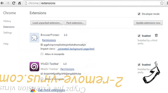 Wasterestinfor.info Chrome extensions remove