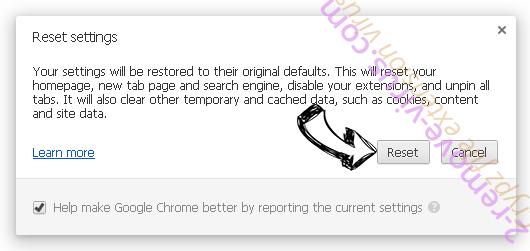 Wasterestinfor.info Chrome reset