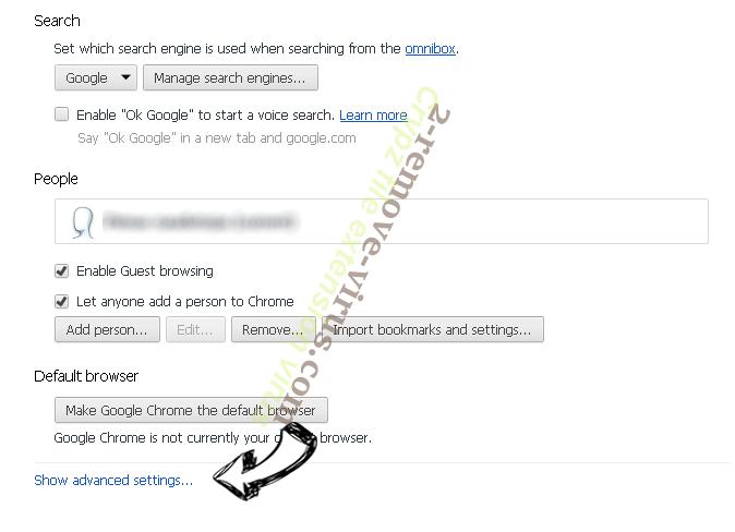 Wasterestinfor.info Chrome settings more