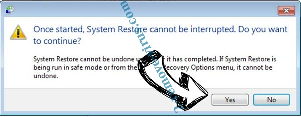 Exx ransomware removal - restore message