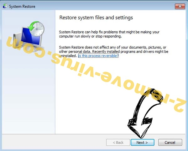 Get rid of Exx ransomware - restore init