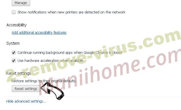 PDFSearches Chrome advanced menu