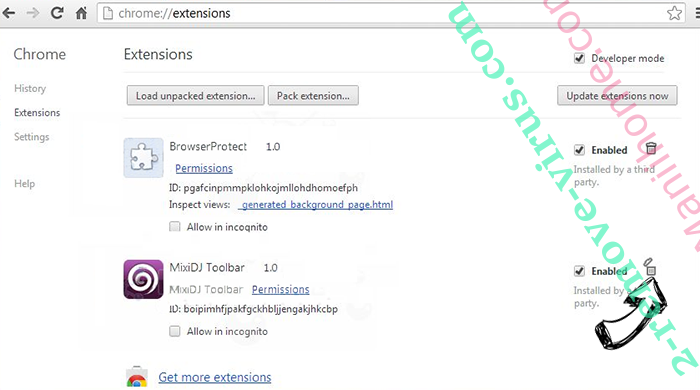 PDFSearches Chrome extensions remove