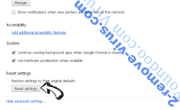 Ponugraduatio.biz Chrome advanced menu