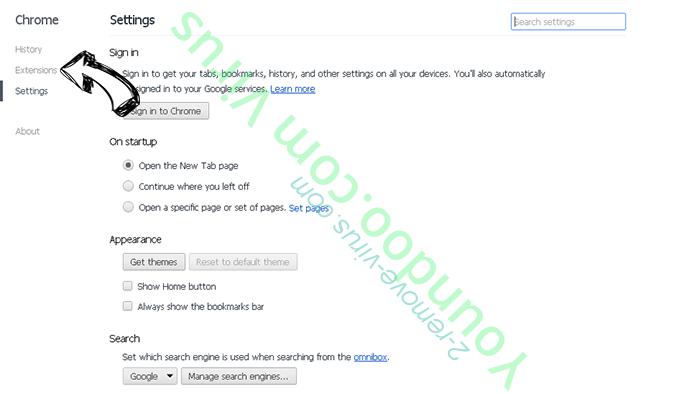 Ponugraduatio.biz Chrome settings