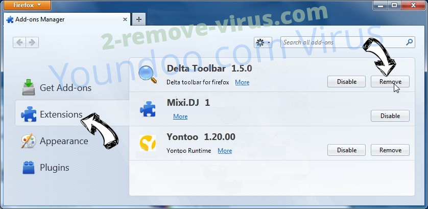 Ponugraduatio.biz Firefox extensions