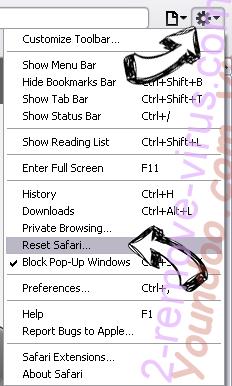 Ponugraduatio.biz Safari reset menu