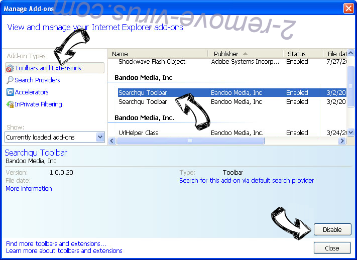 MyStreamsSearch IE toolbars and extensions
