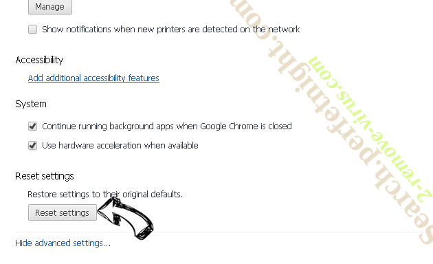 productlocator.xyz Chrome advanced menu