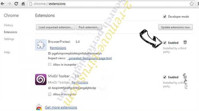 productlocator.xyz Chrome extensions disable