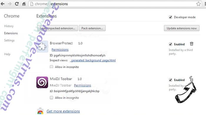 productlocator.xyz Chrome extensions remove