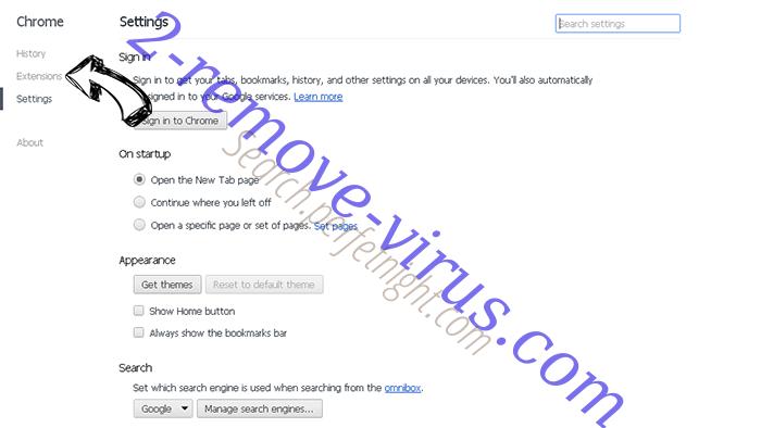 productlocator.xyz Chrome settings