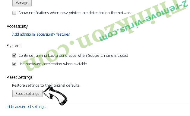Product Locator Chrome advanced menu